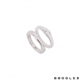Boodles Platinum Diamond Bridal Set Ring
